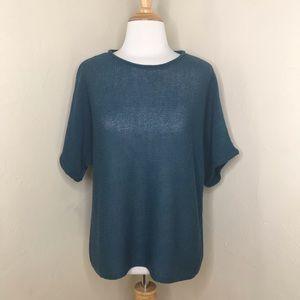 Eileen Fisher 100% Wool Loose Knit Sweater